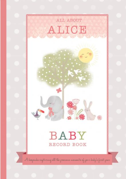 Milly & Flynn - Personalised Baby Girl Record Book